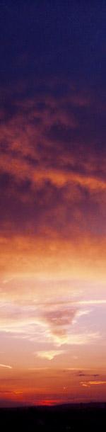 coucher de soleil vertical